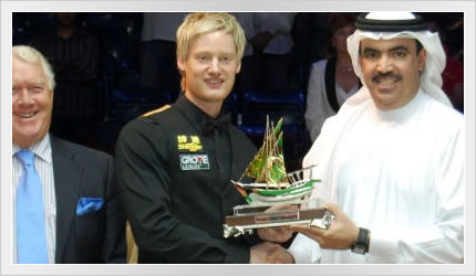 Neil wins the Bahrain Championship 2008