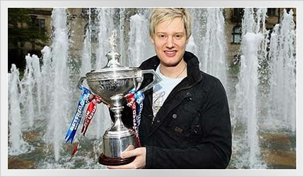 Neil Robertson wins Betfred World Snooker Championship 2010